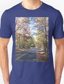 Rustic West Virginia Country Road in Autumn T-Shirt