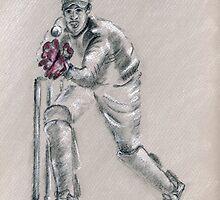Wicket Keeper - drawing by Paulette Farrell