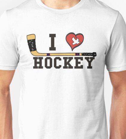 I Love Hockey Unisex T-Shirt