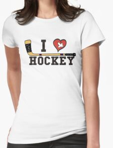 I Love Hockey Womens Fitted T-Shirt