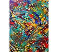 FIREWORKS IN COLOR - Bold Abstract Acrylic Painting Lovely Masculine Colorful Splash Pattern Gift Photographic Print