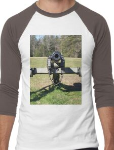 Civil War Cannon Ready For An Old School Whoopin Men's Baseball ¾ T-Shirt