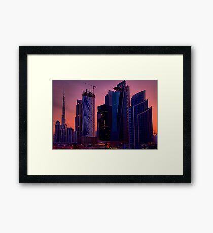 Business Bay at Dawn Framed Print