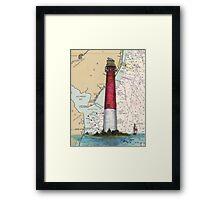 Barnegat Lighthouse NJ Nautical Chart Cathy Peek Framed Print