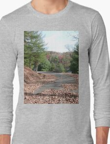Rustic Park Road in the Appalachia Mountains Long Sleeve T-Shirt