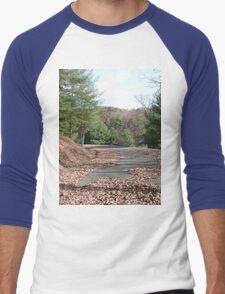Rustic Park Road in the Appalachia Mountains Men's Baseball ¾ T-Shirt
