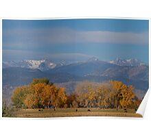 Boulder County Colorado Continental Divide Autumn View Poster