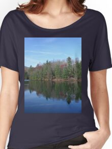 Scenic Glassy Mountain Lake Women's Relaxed Fit T-Shirt