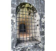 The Window at Fort Charlotte in Nassau, The Bahamas Photographic Print