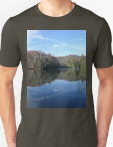 Scenic Glassy Country Lake Picture T-Shirt