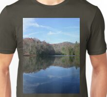 Scenic Glassy Country Lake Picture Unisex T-Shirt