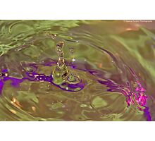 Water Drop Art.. Photographic Print