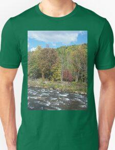 Pretty Rustic Autumn River Rapids Unisex T-Shirt