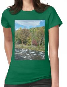 Pretty Rustic Autumn River Rapids Womens Fitted T-Shirt