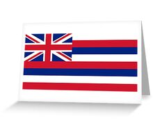 State flag of Hawaii - Authentic version Greeting Card