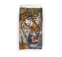 Siberian Tiger roar Duvet Cover