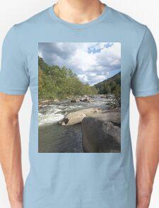 Gorgeous Rustic Appalachian River Scene Unisex T-Shirt