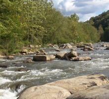 Gorgeous Rustic Appalachian River Scene Sticker