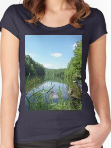Wild and Wonderful Rustic Wilderness Lake Women's Fitted Scoop T-Shirt