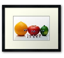 Watching Festival Parade Framed Print