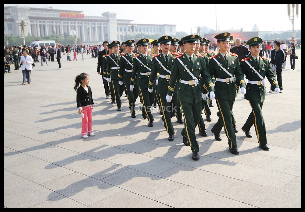 Girl in Tiananmen square by jonshock