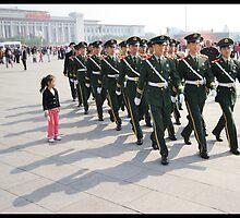 Girl in Tiananmen square by jonshock