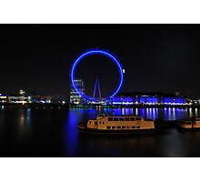 London Eye by Night Photographic Print