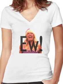 Ew! Women's Fitted V-Neck T-Shirt