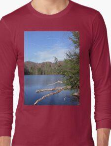 Nice & Relaxing West Virginia Mountain Lake Scene Long Sleeve T-Shirt