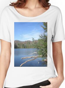 Nice & Relaxing West Virginia Mountain Lake Scene Women's Relaxed Fit T-Shirt