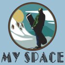 "Snowboarding ""My Space"" by SportsT-Shirts"