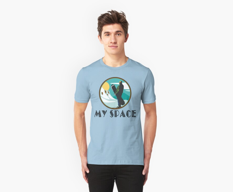 """Snowboarding """"My Space"""" by SportsT-Shirts"""