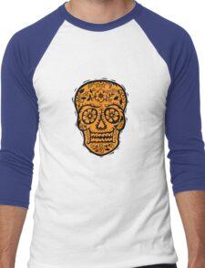 Sugar Skull SF Halloween on blk Men's Baseball ¾ T-Shirt