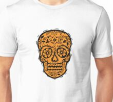 Sugar Skull SF Halloween on blk Unisex T-Shirt