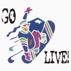 "Snowboarding ""GO LIVE"" by SportsT-Shirts"
