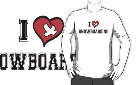 I Love Snowboarding by SportsT-Shirts