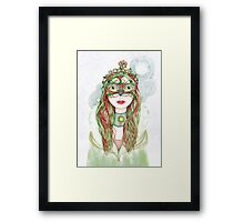 The Yuletide Princess Framed Print