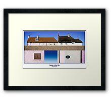 Cottages at West Bay - Collage Framed Print