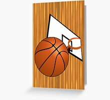 Basketball with Hoop Greeting Card