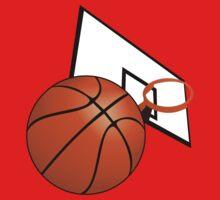 Basketball with Hoop Kids Tee