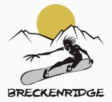 Breckenridge, Colorado Snowboarding Kids Clothes