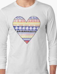 Aztec Heart Long Sleeve T-Shirt