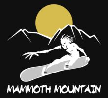 Mammoth Mountain, California Snowboarding Dark by SportsT-Shirts