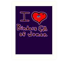 i love binders full of women Mitt Romney Art Print