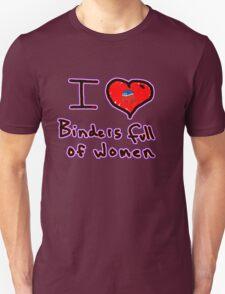 i love binders full of women Mitt Romney T-Shirt