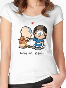 Aang & Katara (Avatar / Calvin & Hobbes) Women's Fitted Scoop T-Shirt