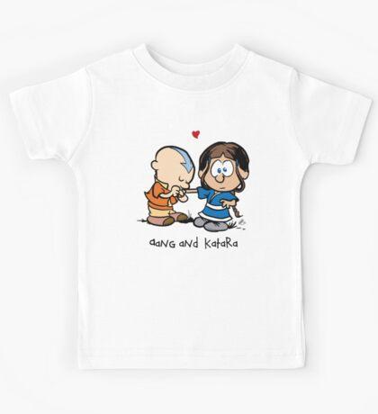 Aang & Katara (Avatar / Calvin & Hobbes) Kids Tee