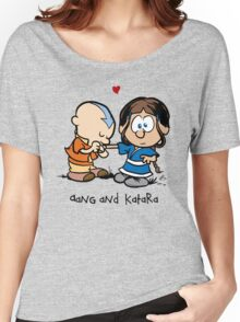 Aang & Katara (Avatar / Calvin & Hobbes) Women's Relaxed Fit T-Shirt
