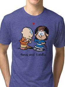Aang & Katara (Avatar / Calvin & Hobbes) Tri-blend T-Shirt