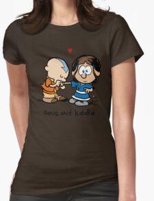 Aang & Katara (Avatar / Calvin & Hobbes) Womens Fitted T-Shirt